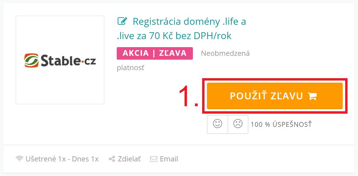 Ako uplatniť zľavu na Stable.cz