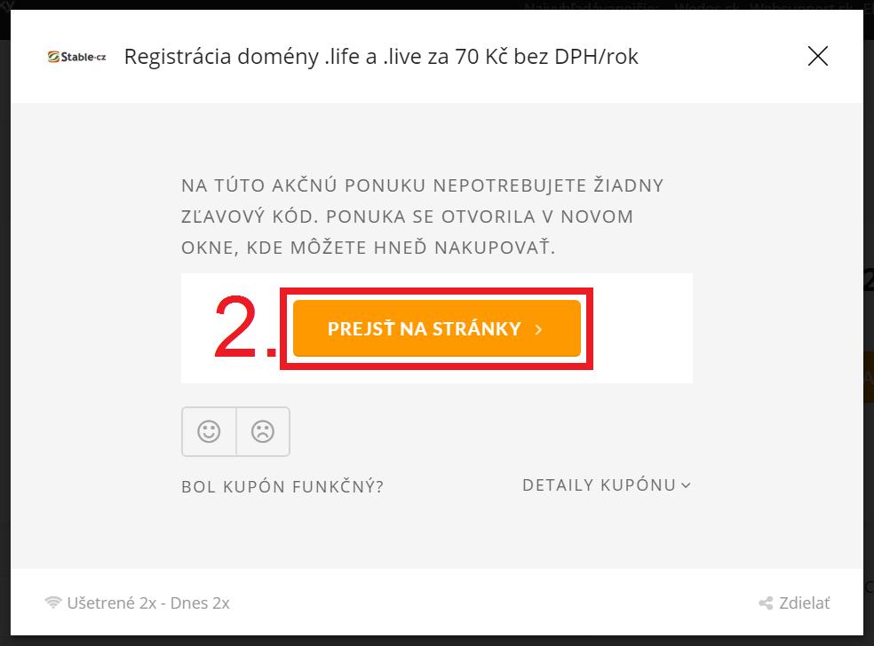 Ako uplatniť zľavy na Stable.cz