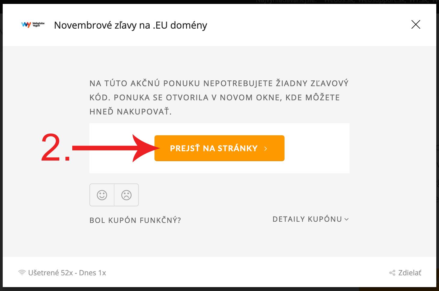 Ako uplatniť zľavu na Wy.sk