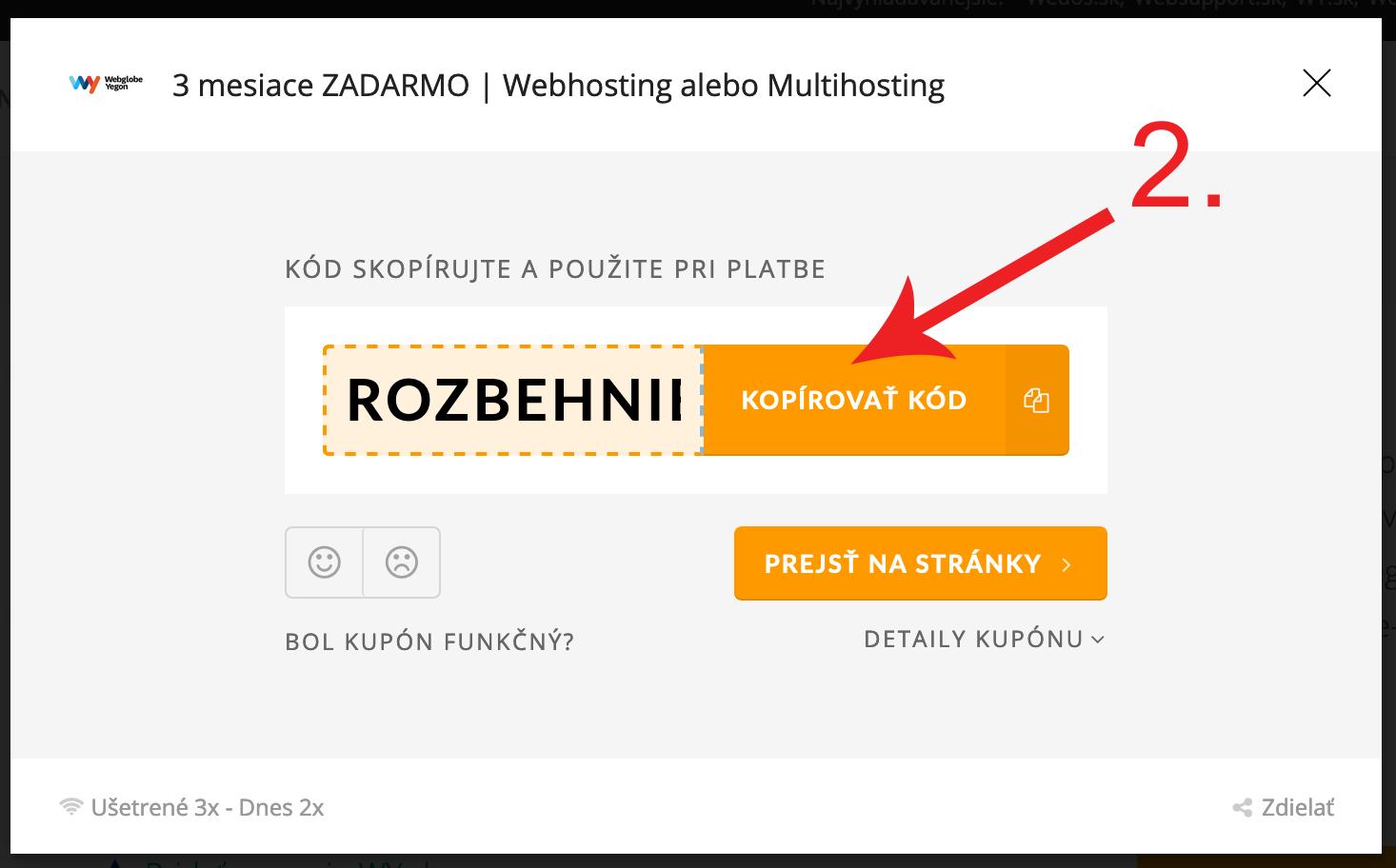 Ako použiť zľavový kupón na Wy.sk