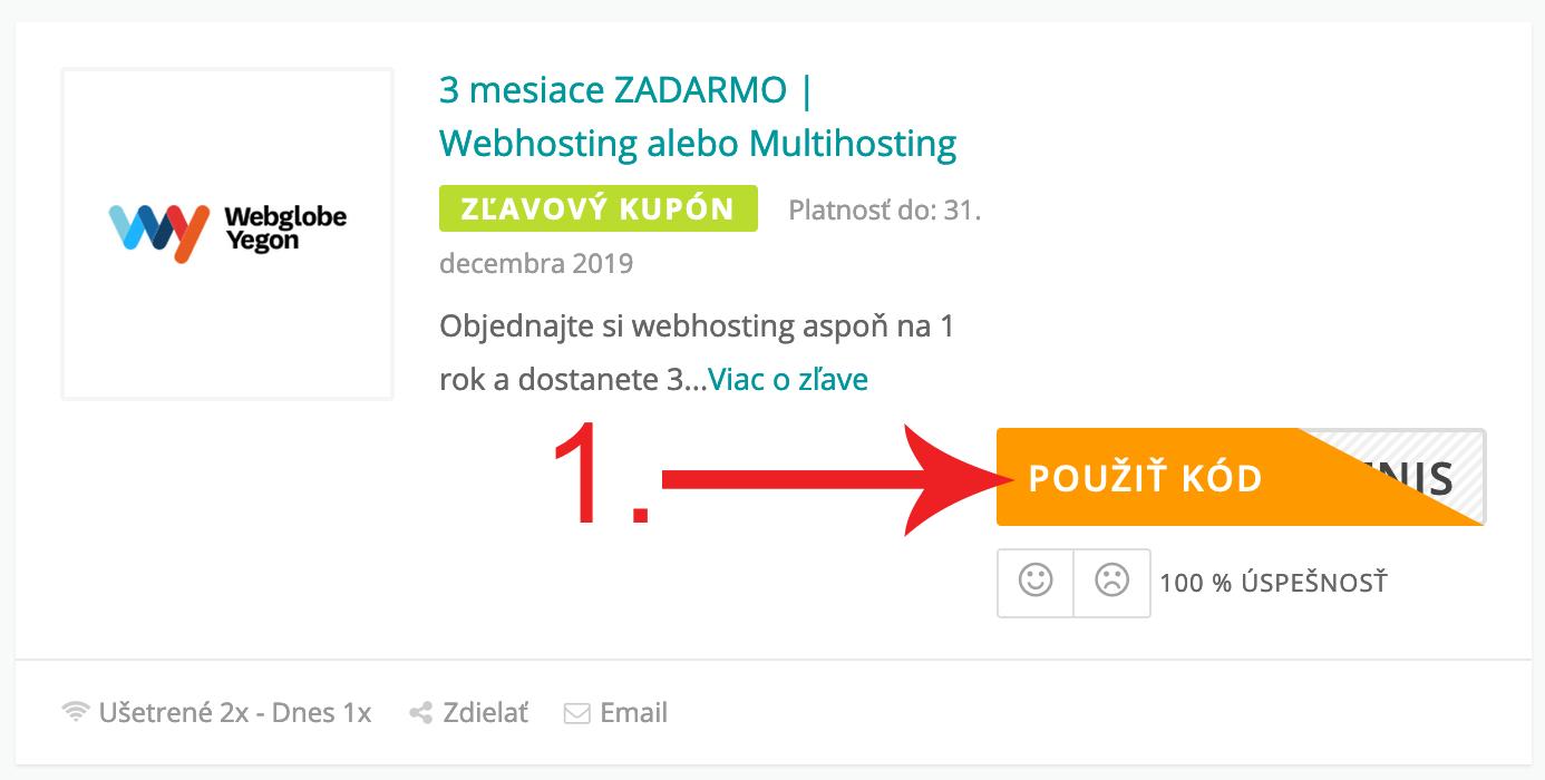 Ako použiť zľavový kód na Wy.sk
