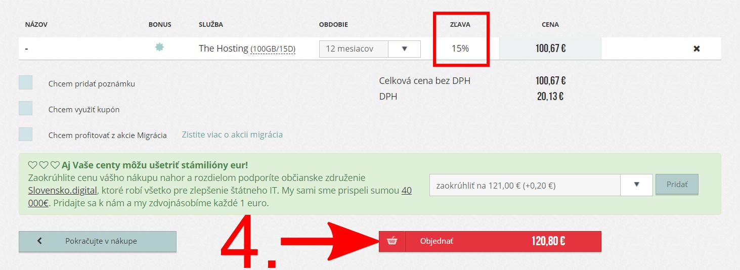 Ako použiť WebSupport zľavový kód?