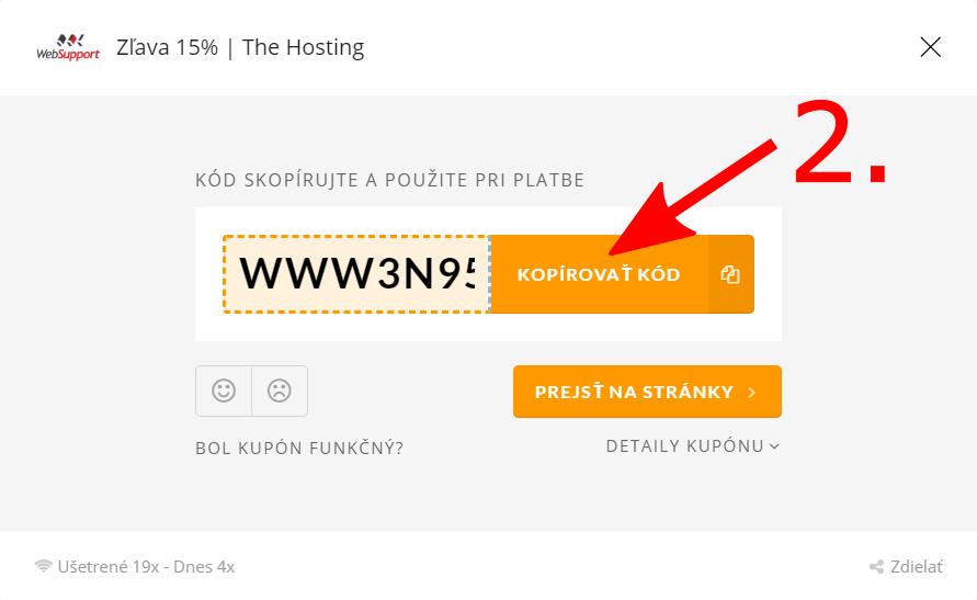 WebSupport promo kupón