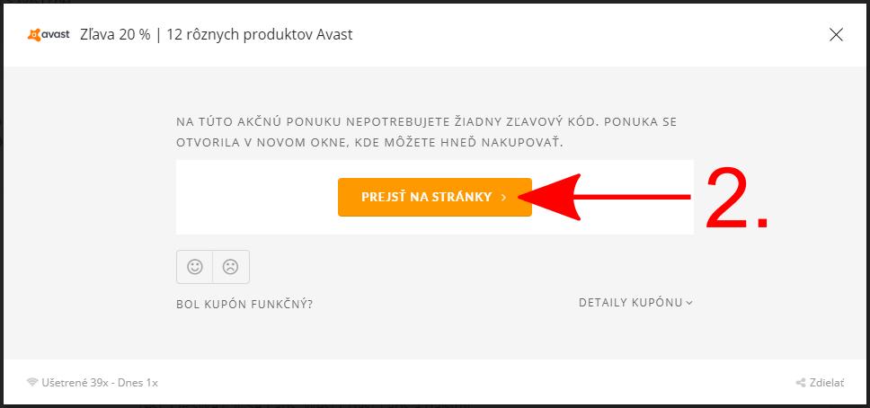 Akcia Avast.com